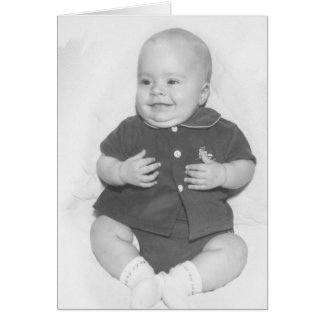1950 s Portrait of Baby Boy Greeting Card