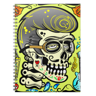 1950's Zombie Rocker Spiral Notebook