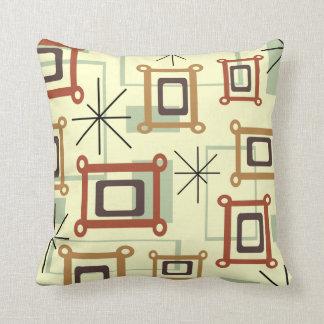 1950s Abstract Pop Art Throw Pillow