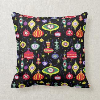 1950s Atomic Mid-Century Modern Christmas Throw Pillow