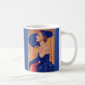 1950s beautiful in blue coffee mug