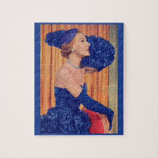 1950s beautiful in blue jigsaw puzzle