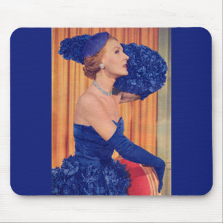 1950s beautiful in blue mouse pad