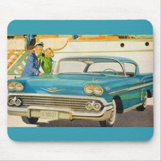 1950s  blue Impala ad Mouse Pad