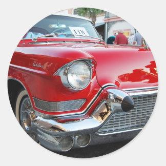 1950s cadillac round sticker