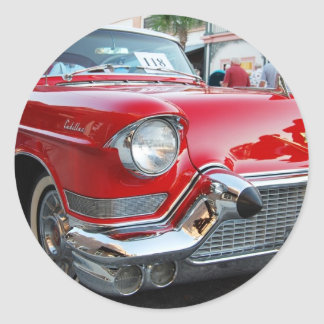 1950s cadillac round stickers