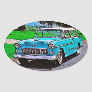 1950's Chevy Nomad Oval Sticker