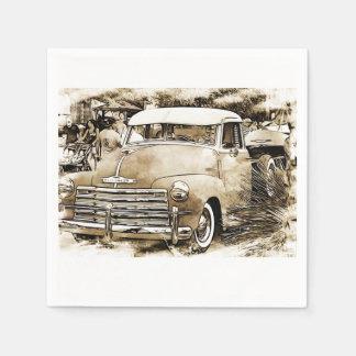 1950's Classic Chevy Chevrolet Truck Paper Napkins