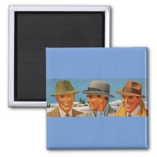 1950s fedora-wearing trio magnet