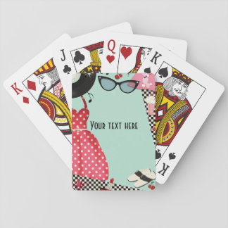 1950's Fifties Dress Up Retro Vintage 50's Custom Poker Deck