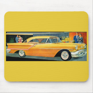 1950s golden Rocket 88 Oldsmobile Mouse Pad