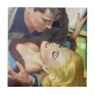 1950s hot office romance ceramic tile