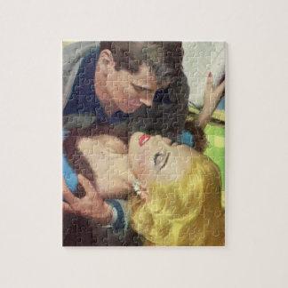 1950s hot office romance jigsaw puzzle