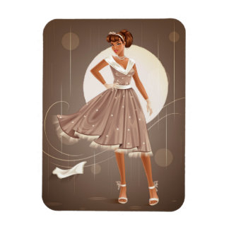 1950's Housewife Rectangular Photo Magnet