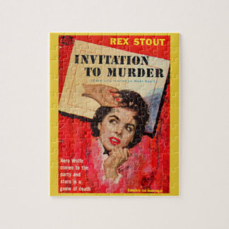 1950s Invitation to Murder Jigsaw Puzzle