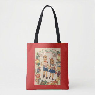 1950's Kids Shopping Tote Bag