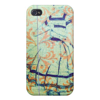 1950's Lady, Etching,Vintage Wallpaper Iphone case iPhone 4 Covers