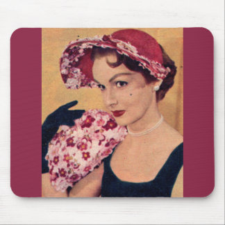 1950s Marjorie in her Spring floral hat Mouse Pad