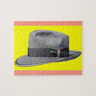 1950s mens fedora hat print jigsaw puzzle
