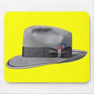 1950s mens fedora hat print mouse pad