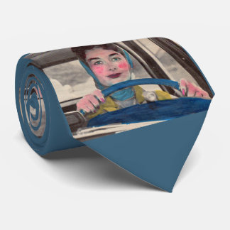 1950s Mom at the wheel Tie