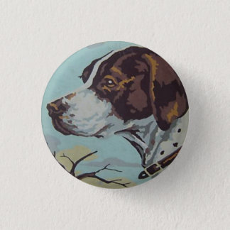 1950s Paint-by-Number English Springer Spaniel 1 Inch Round Button