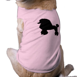 1950s Pink Poodle Skirt Inspired Dog Shirt