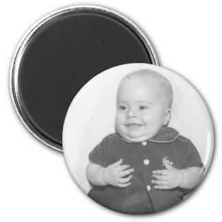 1950's Portrait of Baby Boy 2 Inch Round Magnet