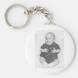 1950's Portrait of Baby Boy Basic Round Button Keychain