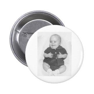 1950's Portrait of Baby Boy Pinback Button