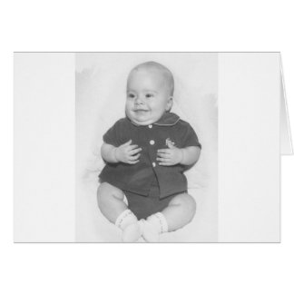 1950's Portrait of Baby Boy Greeting Card