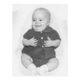 1950's Portrait of Baby Boy Postcard
