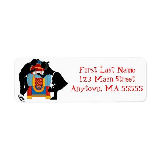 1950s Retro Hep Cat Jukebox Address Labels