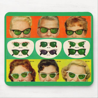 1950s sunglasses ad image mouse pad