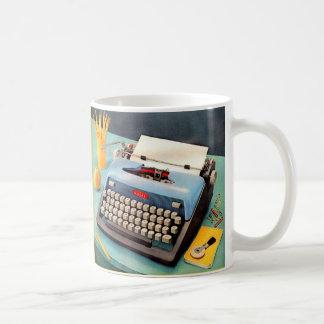 1950s typewriter ad image coffee mug