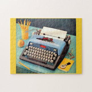 1950s typewriter ad image jigsaw puzzle