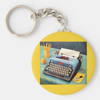 1950s typewriter ad image keychain