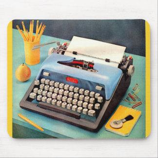 1950s typewriter ad image mouse pad