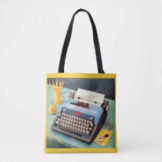 1950s typewriter tote bag