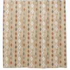 1950s Vintage Atomic Design Shower Curtain