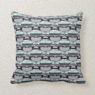 1950s Vintage Car Pattern Throw Pillow