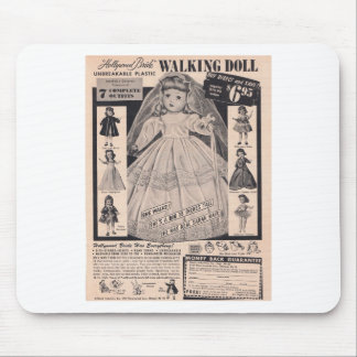 1950's Walking Doll Hollywood Bride Mouse Pad