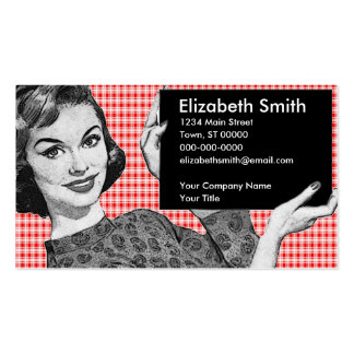 1950s Woman with a Sign V2 Pack Of Standard Business Cards