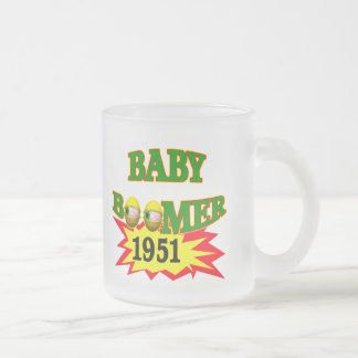 1951 Baby Boomer Frosted Glass Coffee Mug