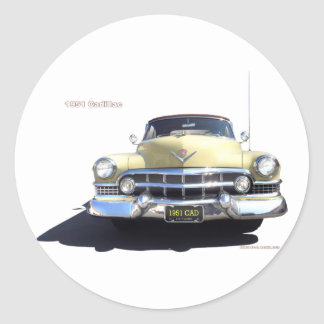1951 CADILLAC CONVERTIBLE ROUND STICKERS