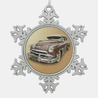 1951 CHEVROLET SNOWFLAKE PEWTER CHRISTMAS ORNAMENT