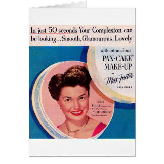 1951 Esther Williams make-up ad Card