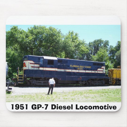 1951 GP-7 Diesel Locomotive Mouse Pad