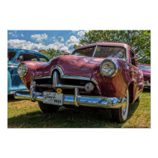 1951 Henry J Classic Car Poster