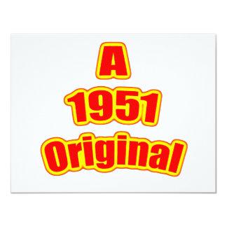 1951 Original Red Card
